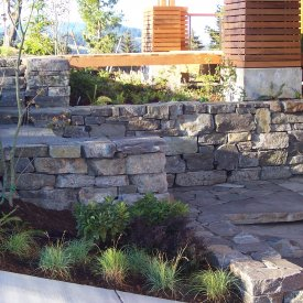Coastal Living Dry stack retaining walls and super slab stairs