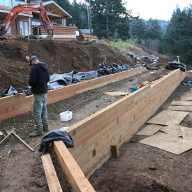new construction retaining walls