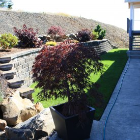 Anchor Highland retaining wall